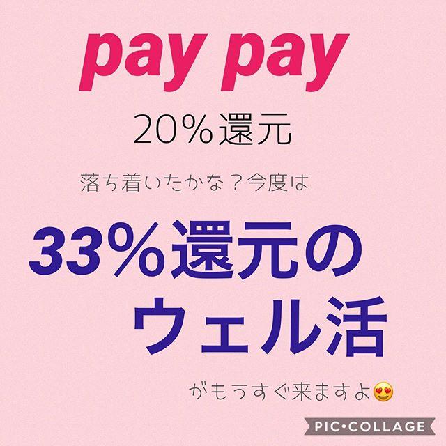 paypayの20%還元は落ち着いたかな?もうすぐ33%のウェル活です