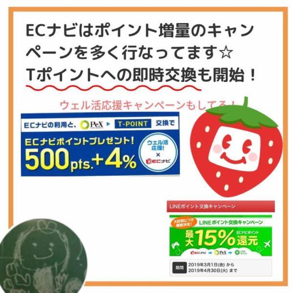 ポイント増量のキャンペーンを多く行ってます☆Tポイントへの即時交換も開始!
