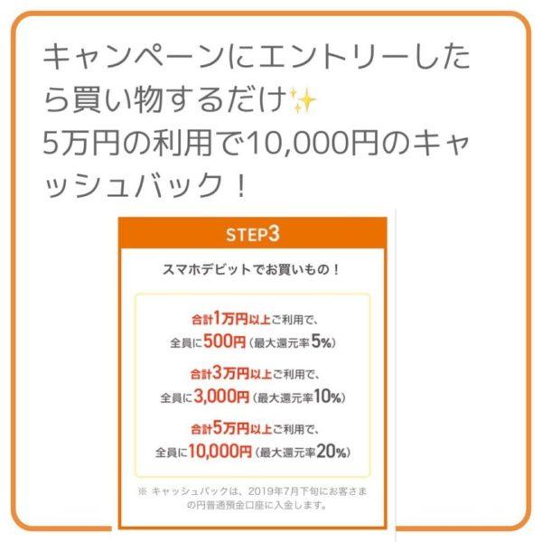 5万円でキャッシュバック