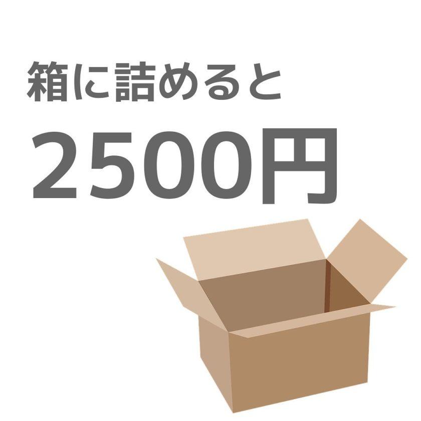 箱につめて2500円