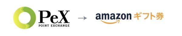 PeXからポイント交換Amazonギフト