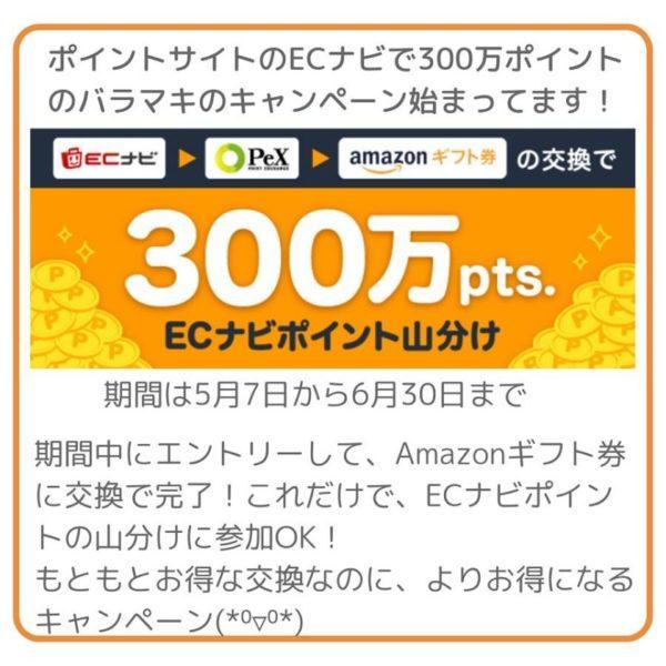 ECナビAmazonギフト交換でバラマキキャンペーン