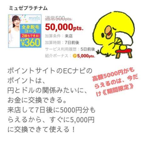ECナビで5000円