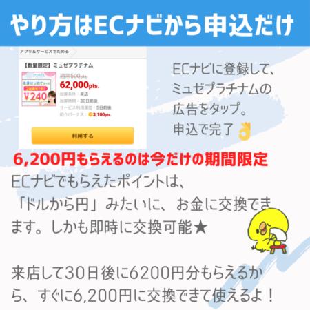 ECナビで6200円